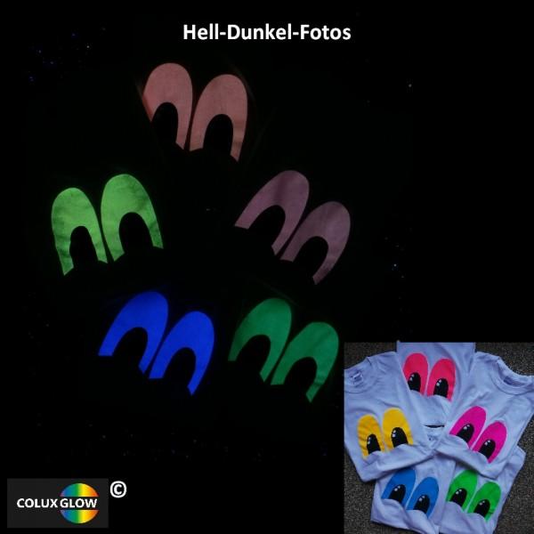 Textildruckfarbe Siebdruck photolumineszenz