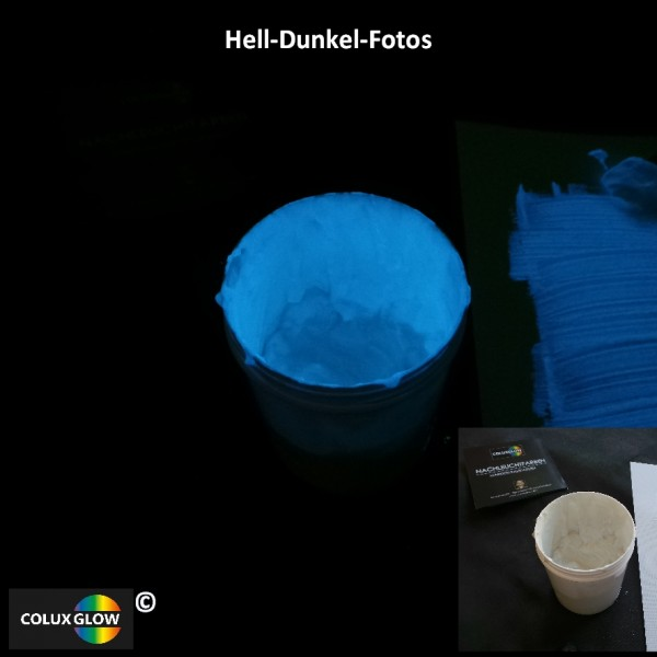 Siebdruckfarbe blau Folie und Karton